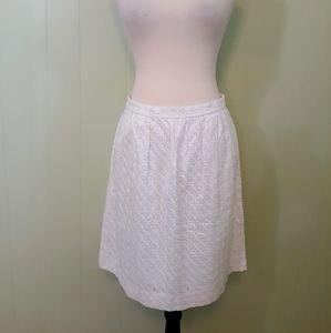 Vintage J. Crew cotton lace skirt sz 6 C2